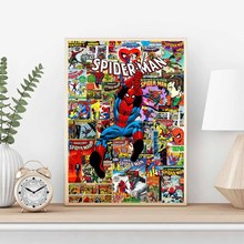 The Amazing Spiderman Marvel Comics Super Hero Collage Canvas Wall Art Painting Print Poster Picture Home Decor