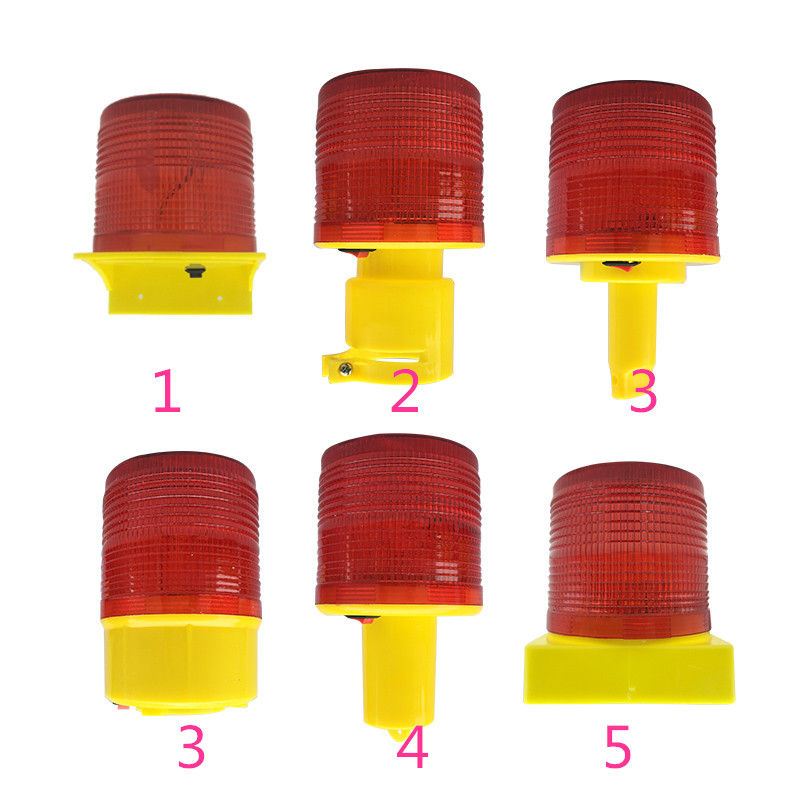 Solar Powered Traffic Warning Light,LED Solar Safety Signal Beacon Alarm Lamp 3 LED