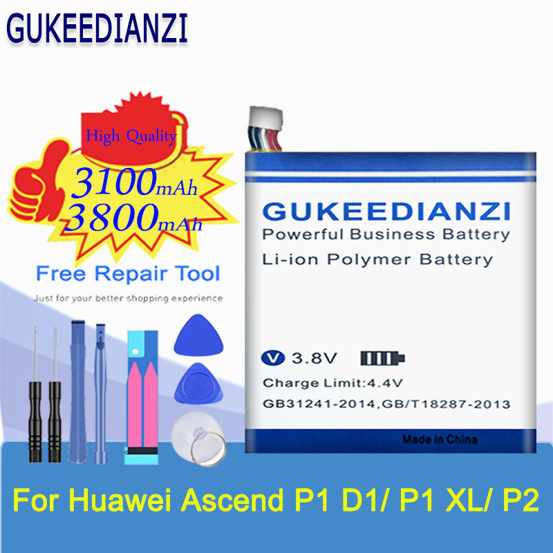 Mobile Phone Battery For Huawei Ascend P1 XL P2 U9200E U9200S / D1 Quad XL U9500E U9510E T9510E 3600mAh HB5Q1HV HB5Y1V Battery(China)