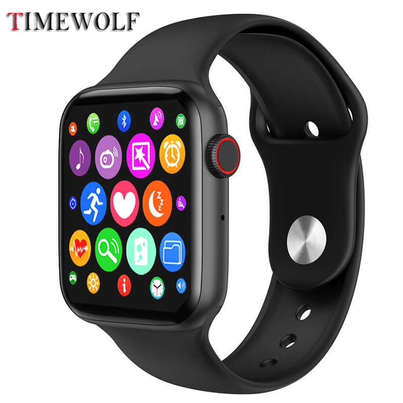 Timewolf W34 Bluetooth Smart Watch 2020 Ip68 Waterproof Smartwatch Ecg Ppg Oxygen Smart Watch For Android Phone Iphone IOS Apple