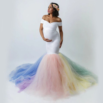 Maternity Dresses For Photo Shoot Pregnancy Dress Photography Gown Pregnant Clothes Maternity Photography Fishtail Tail Dress clearance chiffon gown maternity dress for photo shoot split front maternity photography prop maternity dress without shorts