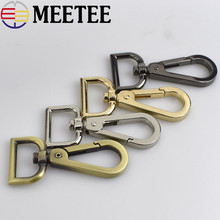 10pcs/50pcs Meetee Wholesale 16mm Metal Bag Strap Buckle Carbines Swivel Lobster Clasp Snap Hook Key Chain Hardware Accessories цена 2017