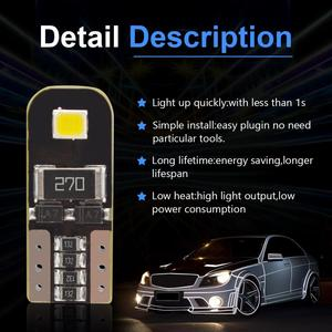 Image 5 - Safego 10pcs T10 Canbus W5W LED Car Light Bulb 158 147 161 168 184 192 2835 SMD Auto Signal Width Reading Lamp 12V White 6000K