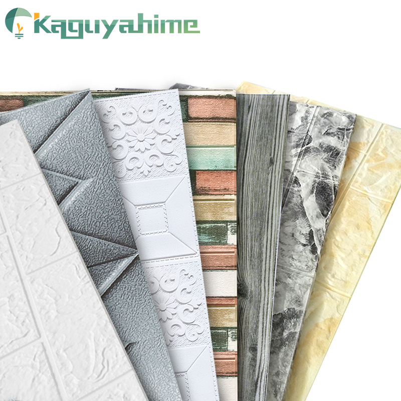 Kaguyahime 3D DIY Stickers Self-Adhesive Decor Wallpaper For Kids Room Kitchen Bedroom Waterproof Sticker 3D Wallpaper Brick