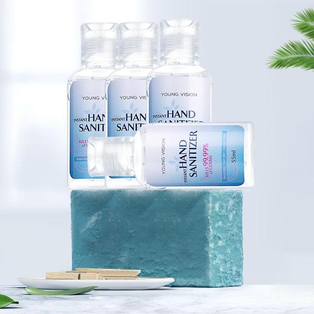 5PCS/lot 55ml Travel Portable Hand Sanitizer Gel Anti-Bacteria Moisturizing Liquid Disposable No Clean Waterless Antibacterial