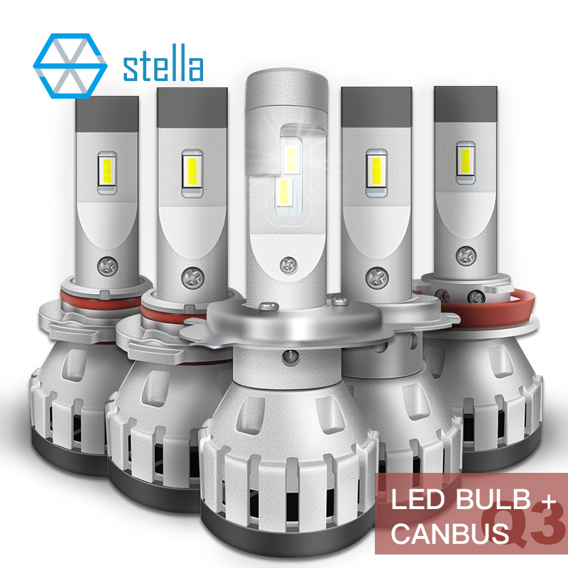 Stella 2pcs <font><b>LED</b></font> CANBUS headlights on cars H4 <font><b>H7</b></font> H8 H11 9005 9012 anti error <font><b>can</b></font> <font><b>bus</b></font> resistor decoder ice light bulbs fog lamp image