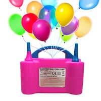 Double trou Portable compresseur d'air 110/220v AC gonflable électrique ballon pompe air ballon pompe électrique ballon gonfleur