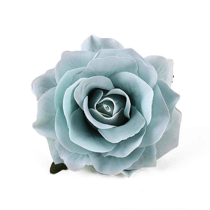 30 Chiếc 9 Cm Nhân Tạo Burgundy Hoa Hồng Lụa Đầu Hoa Cho Trang Trí Đám Cưới Tự Làm Vòng Hoa Tặng Hộp Thêu Sò Thủ Công Giả hoa