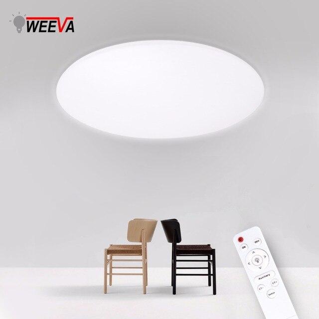 Ultra Thin LED Ceiling Lights Modern Surface Mount Remote Control Lighting Fixture Lamp 110V 220V Living Room Bedroom Kitchen