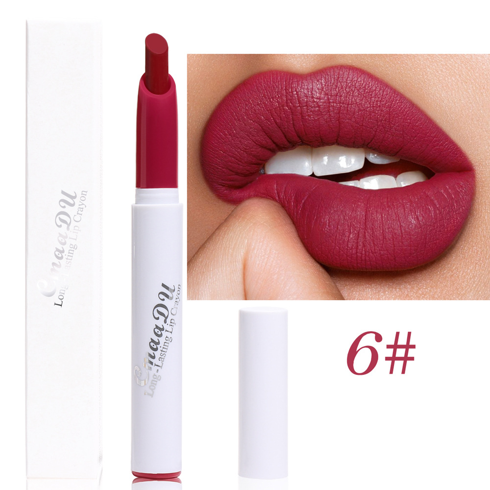 Matte Lippenstift 6 Farben Lippenstift Bleistift Lippen Make-Up Frauen Kosmetik Lang Anhaltende Wasserdichte Matte Lip Bleistift