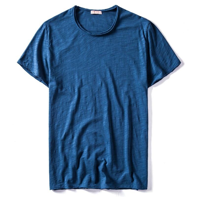 2020 New Summer 10 Colors O-neck T-shirt Men 100% Cotton Short Sleeve Solid Mens Tshirts Fitness Undershirt Male Tops Tees Shirt