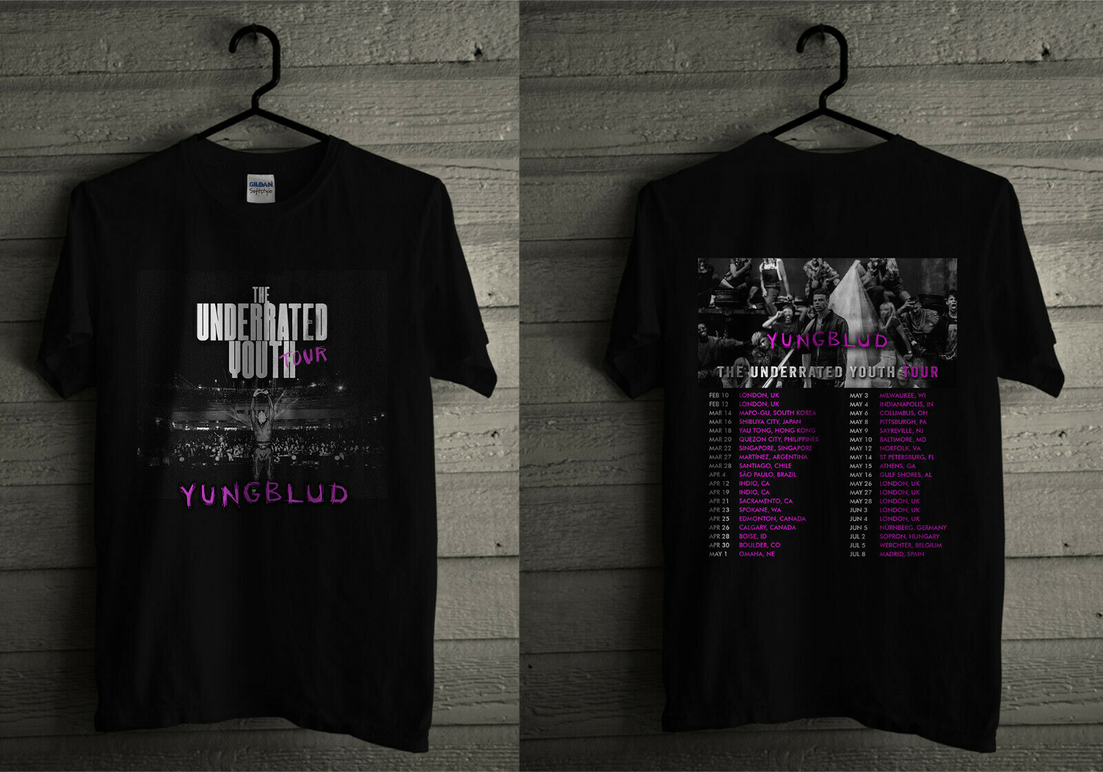 Yungblud The Underrated Youth Tour 2020 T Shirt
