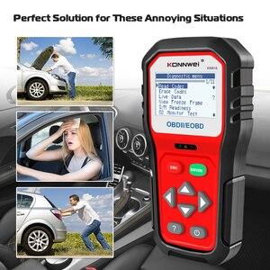 Image 2 - KONNWEI KW818 Enhanced OBDII ODB2 EOBD Car Diagnostic Scanner 12V Battery Tester Check Engine Engine Automotive Code Reader Tool