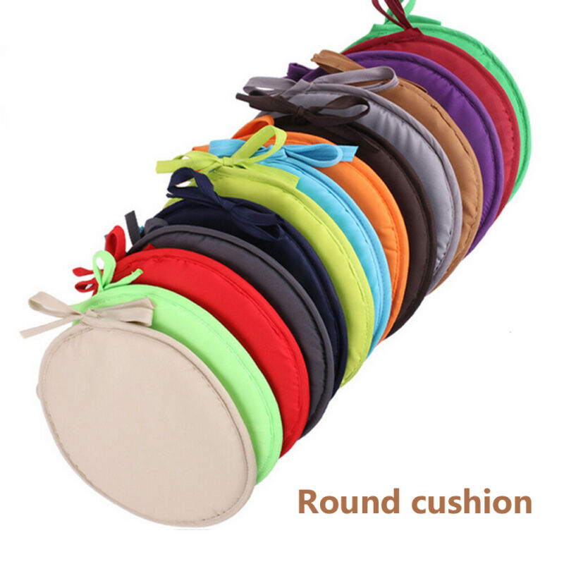 30x30cm Solid Color Round Seat Pad Chair Cushion Non-slip Sofa Home Decorative Soft Padchair Chairs Pillow Seat Cushion