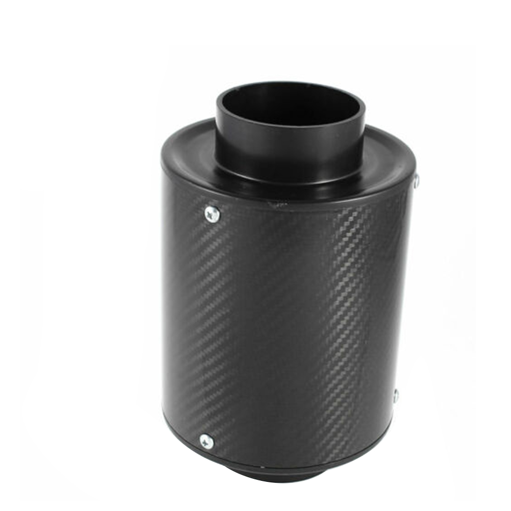 76mm Easy Installation Car Parts Accessories Round Replacement Intake Modified Carbon Fiber Auto Universal Air Filter Adjustable