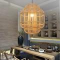 Китайский бамбуковый художественный подвесной светильник  освещение  японский Чайный домик  подвесной светильник для птиц  индивидуальный...