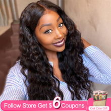 Wigs 4x4 Human-Hair-Wigs Lace Closure Lace-Frontal T-Part 13x5 Burgundy Pre-Plucked Straight