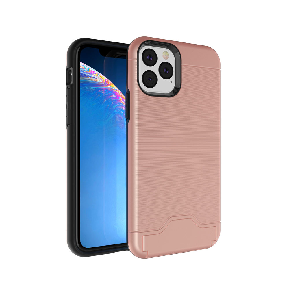 Brushed Armor Card Holder Case for iPhone 11/11 Pro/11 Pro Max 9
