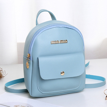 Mini Backpack Women PU Leather Shoulder Bag For Teenage Girls Kids Multi-Function Bagpack Small Female Ladies School Bags mini backpack women pu leather shoulder bag for teenage girls kids multi function small bagpack female ladies school backpack