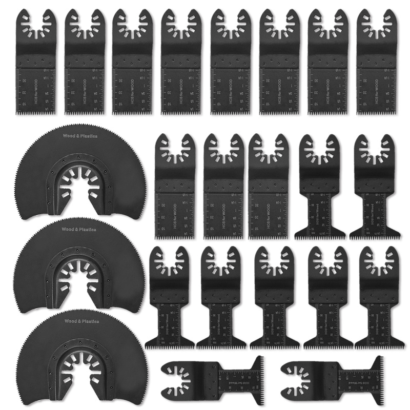 23pcs Kit Oscillating Tool Saw Blades For Renovator Power Tools High Carbon Steel Metalworking Saw Blades For Wood Plastic