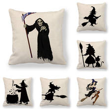 45cm*45cm Cushion cover Halloween Witche Design of Fashion Shoes  linen/cotton pillow case sofa and Home decorative