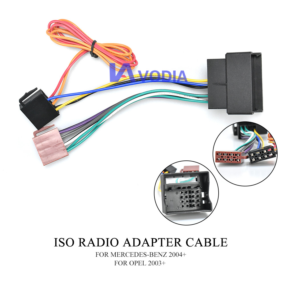 12-024 ISO Radio Adapter for MERCEDES-BENZ 2004+ for OPEL 2003+ Wiring Harness Connector Lead Loom Cable Plug(China)