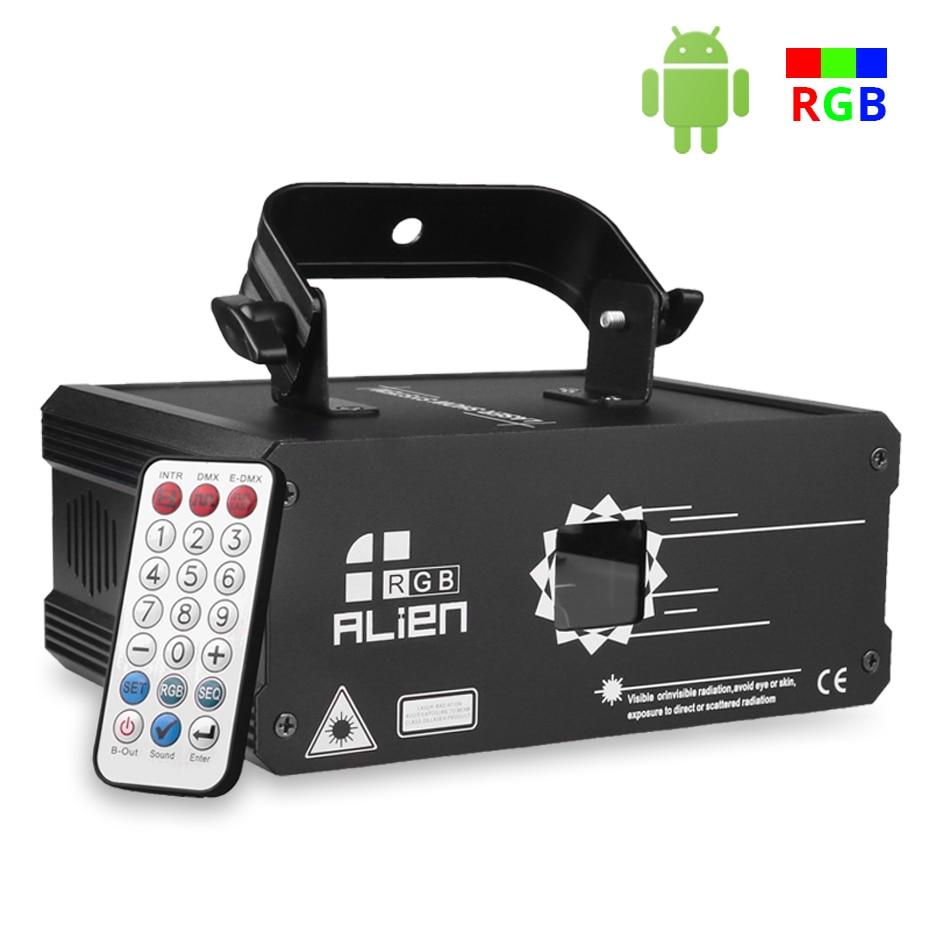 ALIEN RGB Bluetooth APP Remote Animation Laser Projector DMX512 Scanner DJ Disco Party Holiday 500MW 1W 2W Stage Lighting Effect 2