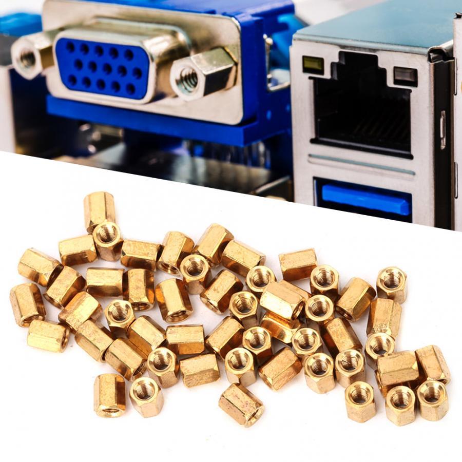 20pcs M3 x 30mm Brass Hexagonal Threaded Double Pass Spacers Hexagon Copper Post