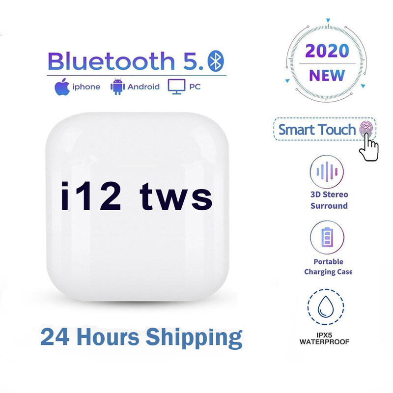 Беспроводные наушники I12 TWS Bluetooth 5,0, игровые наушники, спортивные стерео наушники подходят для IPhone, Xiaomi, Huawei, Xiaomi, Huawei, Samsung