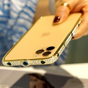 Image 5 - Shining Diamond GlitterสำหรับiPhone 11 PRO MAX X XS XR 6 7 8 Plusเครื่องประดับโลหะกันชนblingสำหรับIphone Capas