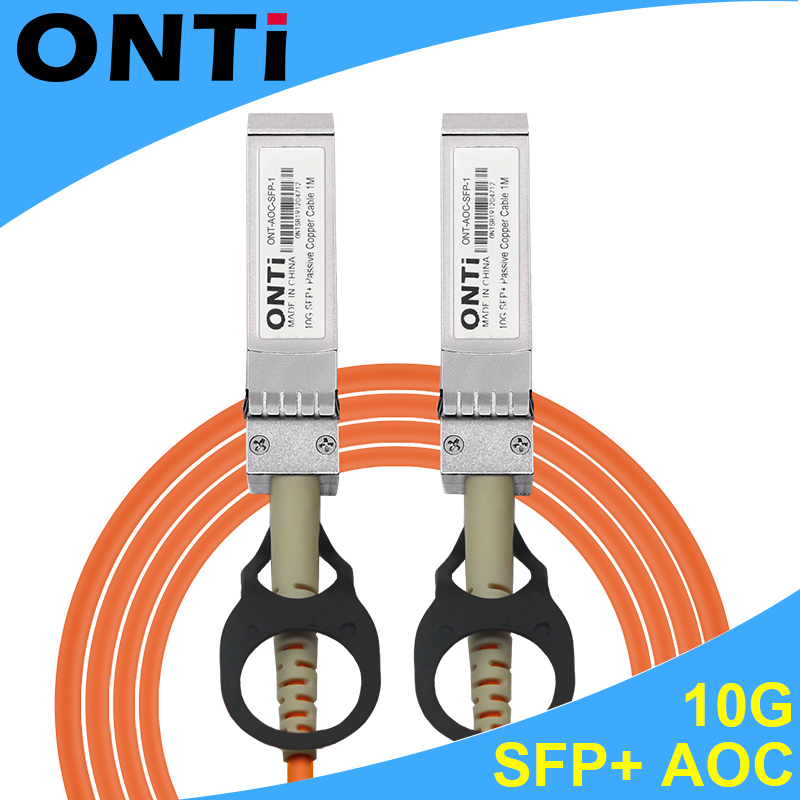 ONTi 1m/3m/5m/10m/30m SFP+ 10Gb AOC SFP Module 10G 30-meter Active Optical Cable Compatible With Cisco Network Switch