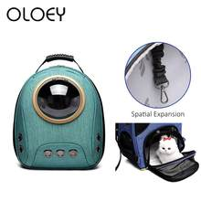 Mochila de gato transpirable para mascotas, bolsa de transporte de viaje para gatos, portátil, cápsula espacial de lujo para perros y cachorros