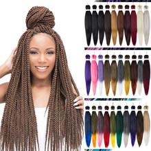 "Ombre Braiding Hair Jumbo Braids Hair Crochet Hair Extension Easy Synthetic 20"" 26"" Low Temperature Fiber Mirra's Mirror(China)"