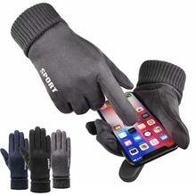 Велосипедные перчатки замша полный палец теплые и бархатные