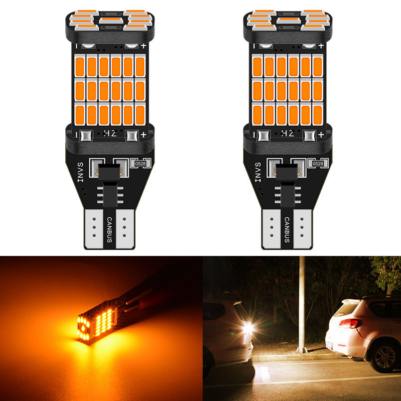 2pcs T15 W16W <font><b>LED</b></font> Canbus Bulbs 920 921 Error Free White Amber <font><b>Led</b></font> Car Backup Reverse Light for BMW E46 E39 E90 E60 <font><b>E36</b></font> F30 F10 image