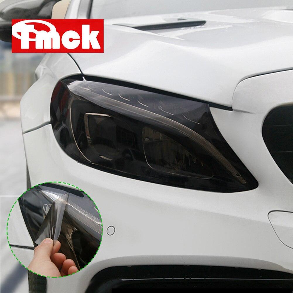 Newest For Mercedes Benz A C E GLC GLA CLA GLS GLE Class W177 W205 W213 Car Headlamps TPU Smoked Black Headlights Protector Film