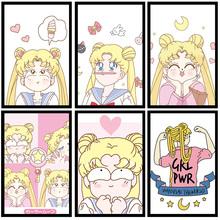 Anime Cartoon Sailor Moon Sailor Moon ozdoby do dekoracji wnętrz obraz na płótnie dekoracja nordycka plakat pokoju dziecięcego A602 tanie tanio WXDUUZ Płótno wydruki Olej Film Unframed Pojedyncze Malowanie natryskowe Pionowe Prostokąta Klasyczne
