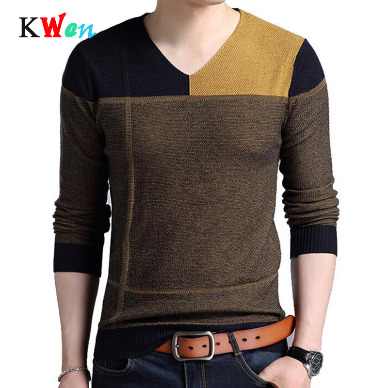 New Designer Pullover Patchwork Men Sweater Dress Jersey Knitted Sweaters Mens Wear Slim Fit Knitwear Fashion Clothing
