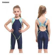 Профессиональный цельный купальный костюм для девочек, детский купальный костюм, Высококачественная эластичная ткань, купальный костюм