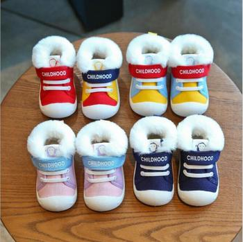 Winter Infant Toddler Boots Warm Plush Baby Girls Boys Snow Boots Outdoor Soft Bottom Non-Slip Child Kids Boots Shoes baby girls boys boots 2020 winter infant toddler snow boots warm plush outdoor boots soft bottom non slip kids cotton shoes