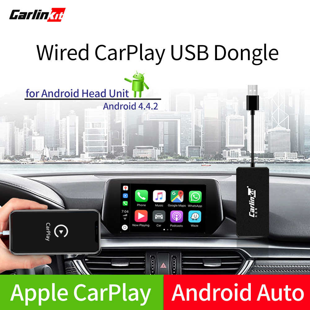 Carlinkit carplay usb dongle/android auto com controle da tela de toque para o jogador multimídia android do carro de android