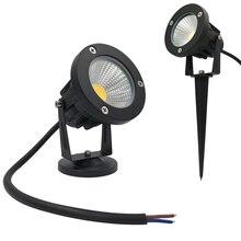 9 Вт наружный Точечный светильник светодиодный садовый светильник ac12в ландшафтный светильник Спайк водонепроницаемый 12 В дорожка лампа теплый белый зеленый Точечный светильник s