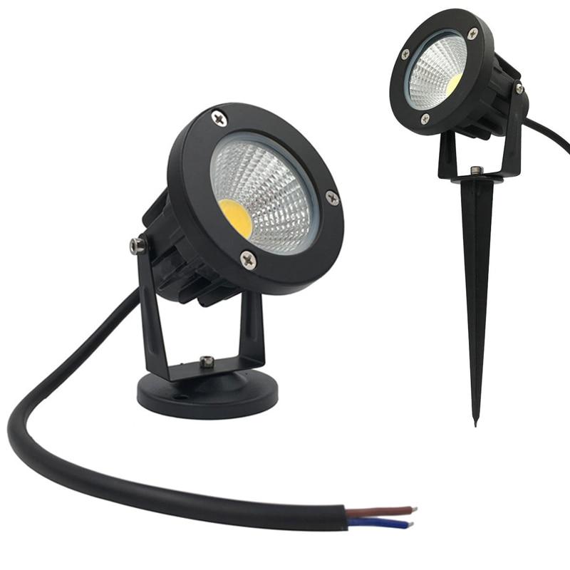9W Garden Lighting Outdoor Spotlight LED Garden Lawn Light AC12V Landscape Lamp Spike Waterproof 12V Path Spot Light Garden Lamp