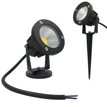 9W oświetlenie ogrodowe zewnętrzny reflektor punktowy LED lampa ogrodowa AC12V lampa krajobrazowa Spike wodoodporna 12V ścieżka światło punktowe lampa ogrodowa tanie i dobre opinie LIGHTLUST HOLIDAY ROHS 2years Z aluminium Żarówki LED LL-LDCOB5W Szczotkowana ze stali nierdzewnej 85-265 v Spot Lawn Light