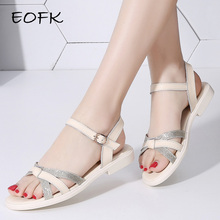 EOFK Women Sandals Shoes Flat Sandals Su