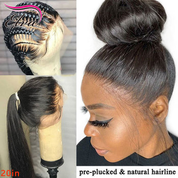 Elva Hair Transparent Lace Wig 13x6 Lace Front Human Hair Wigs PrePlucked Hairline Remy Hair Curly Lace Front Wig With Baby Hair