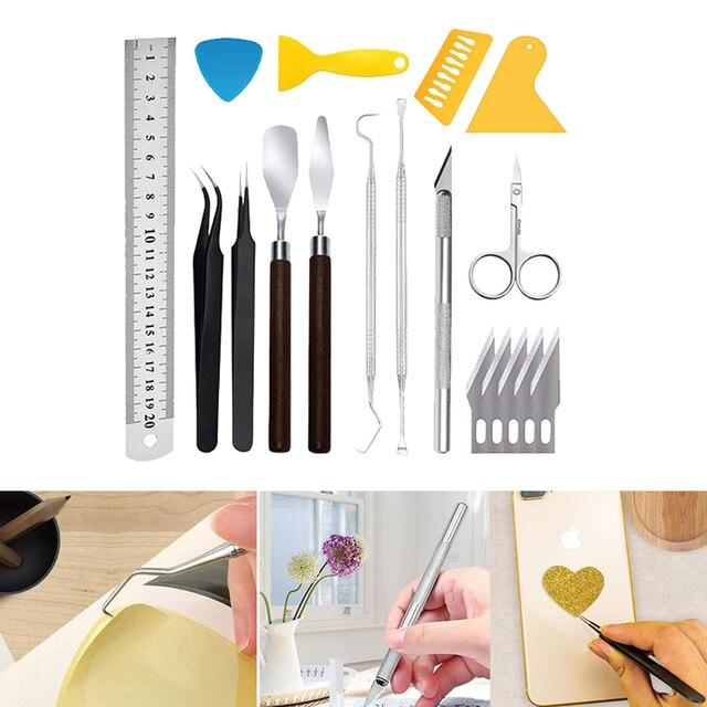18 Craft Vinyl Tool Weeding Precision Diy Basic Set for Cricut Cameos Silhouttes