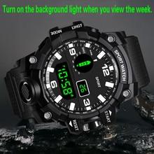 Luxury Brand Fashion Watch Mens Digital LED Watch Date Sport