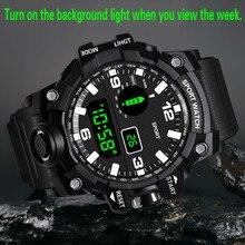 Luxury Brand Fashion Watch Mens Digital LED Watch Date Sport Men Outdoor Electronic Waterproof Watch Relogio Masculino