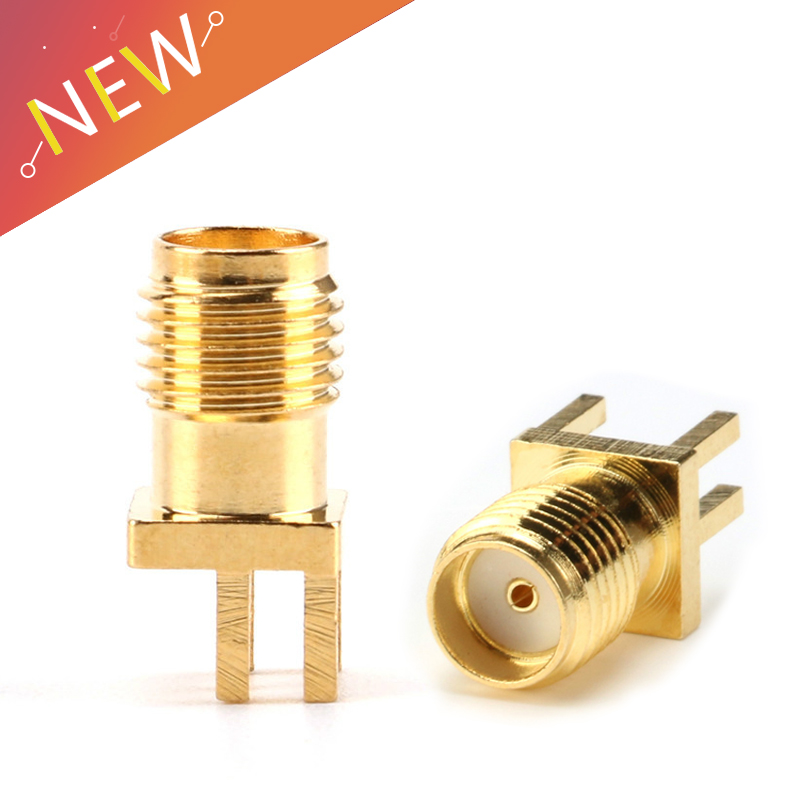 20Pcs SMA Female Jack Connector For 1.6mm Solder Edge PCB Straight Mount Gold Plated RF Connectors Receptacle Solder